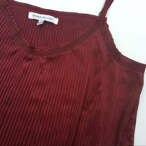 Burgundy Pleated Cami